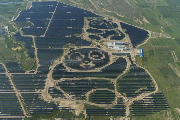 Solar Spotlight Panda