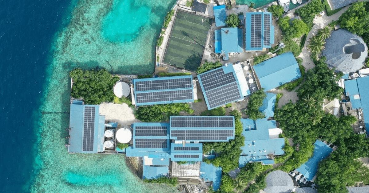 Solar Installation Spotlight Finolhu Villas – Solar Powered Luxury Resorts - Solaire Connect